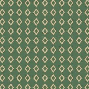 Green Tan Diamond wolf