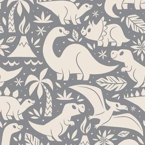Delightful Dinos (Gray)