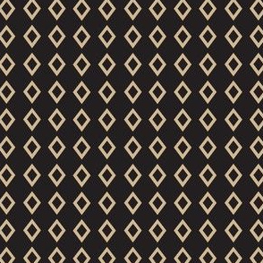 Black Tan Diamond Geometric