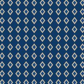 Blue Tan Diamond Geometric