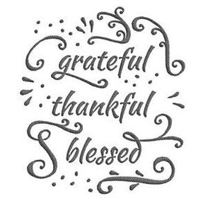 """grateful • thankful • blessed (6x9"""" burlap-texture)"""