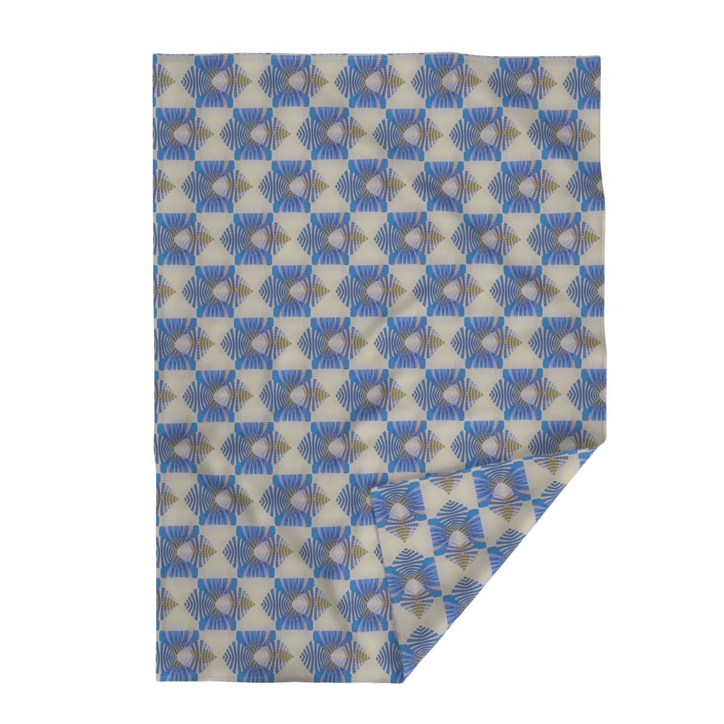 Lakenvelder Throw Blanket featuring Point Nimian Reduction (Blue) by david_kent_collections