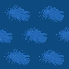 featherbed in blues
