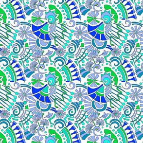 mod cornflower periwinkle blue trumpet flower