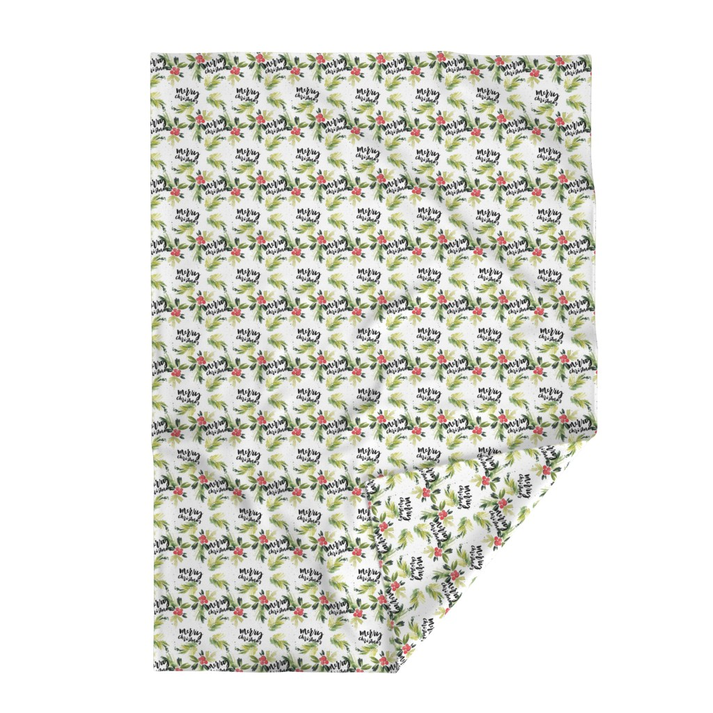 Lakenvelder Throw Blanket featuring Merry Christmas Red Berry Holly by hipkiddesigns
