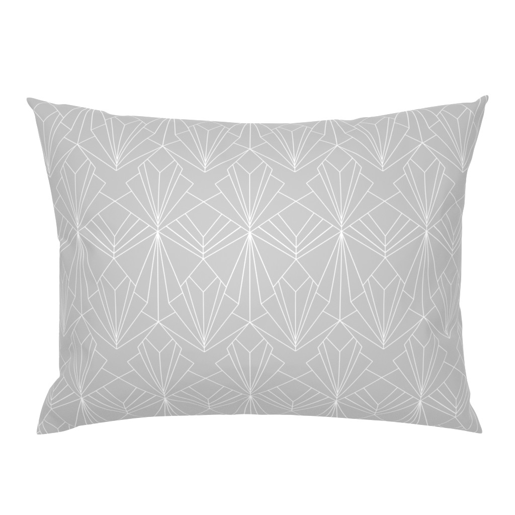 Campine Pillow Sham featuring Art Deco on Grey by thewellingtonboot