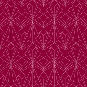 Art Deco on Raspberry Pink
