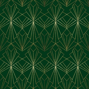 Art Deco on Emerald Green