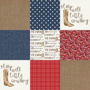 Western/Sleep Well Little Cowboy - Wholecloth Cheater Quilt