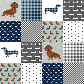 dachshund pet quilt b dog breed silhouette cheater quilt