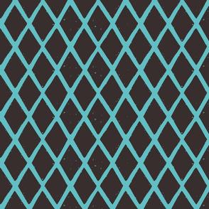diamonds blockprint pattern fabric-01