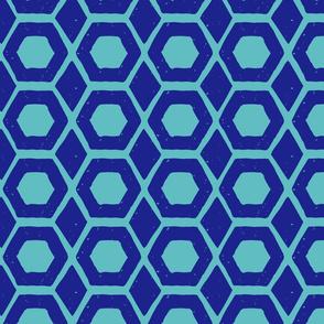 hexagon diamond block print pattern-01