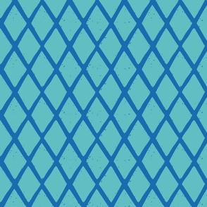 small diamonds stripe BLUE TURQ-01