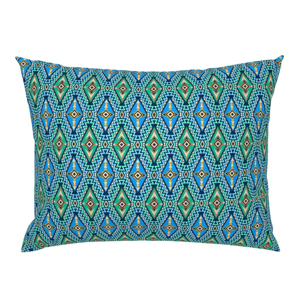 Campine Pillow Sham featuring Sundown Kilim (sm) by jjtrends