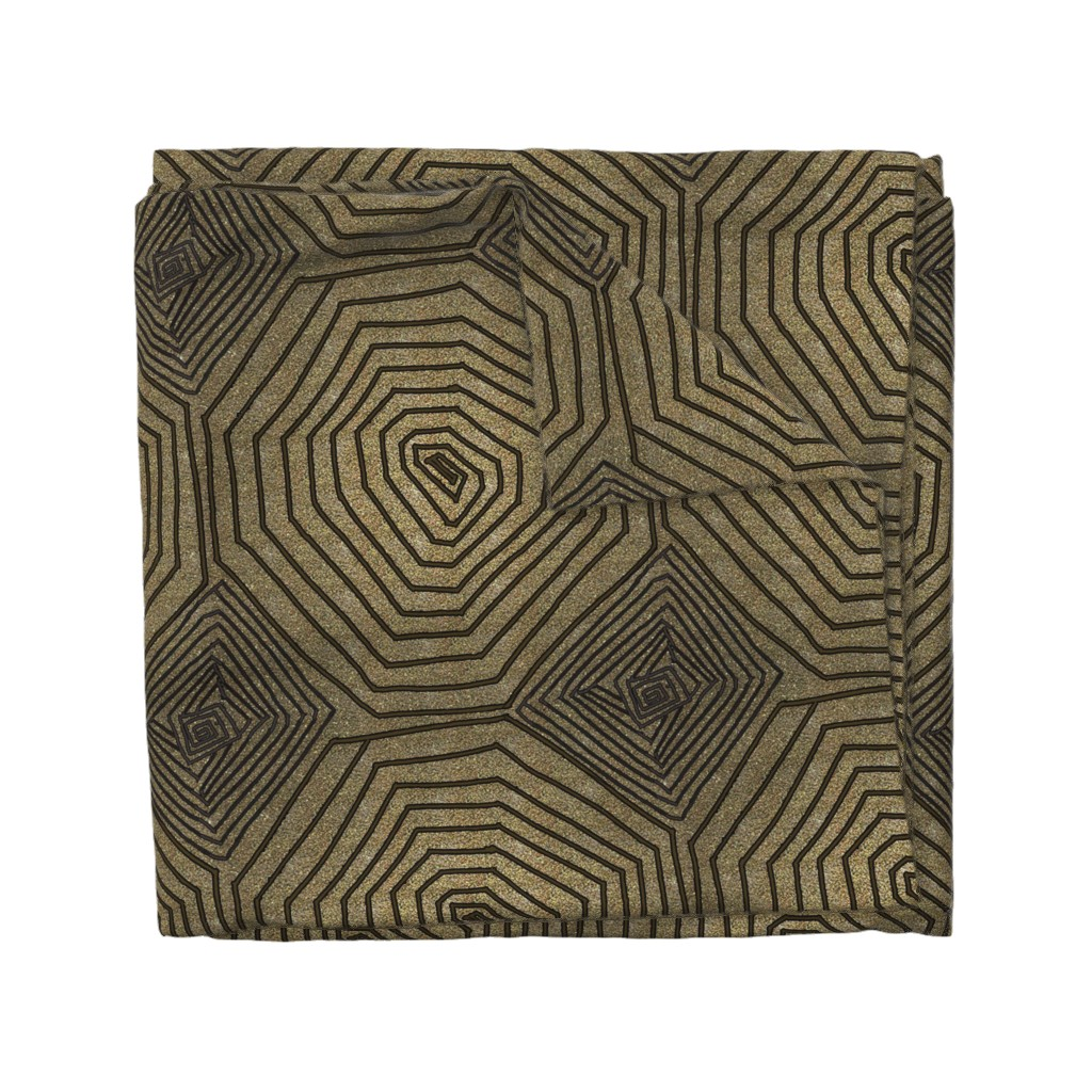 Wyandotte Duvet Cover featuring Art deco spiral by belana