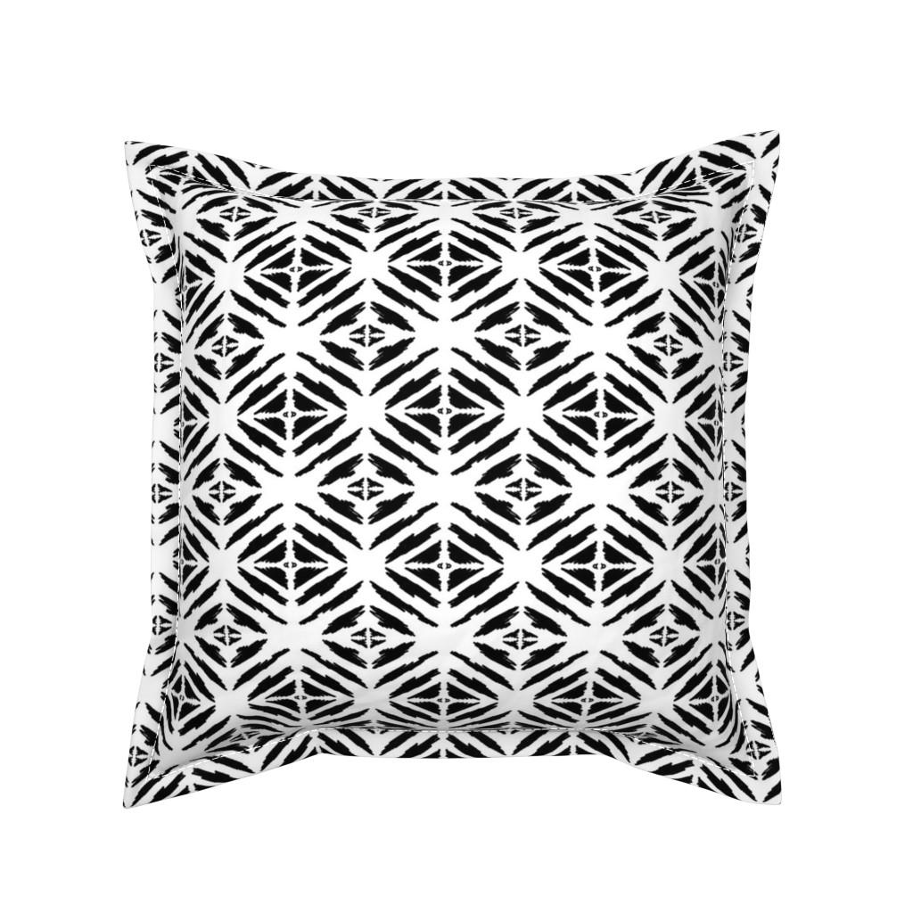 Serama Throw Pillow featuring Black & White Go Go Go  20 by tabasamu_design