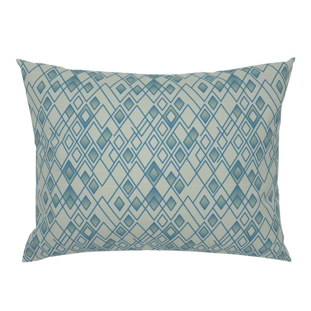 Campine Pillow Sham featuring Rhapsody Blue by chris_jorge