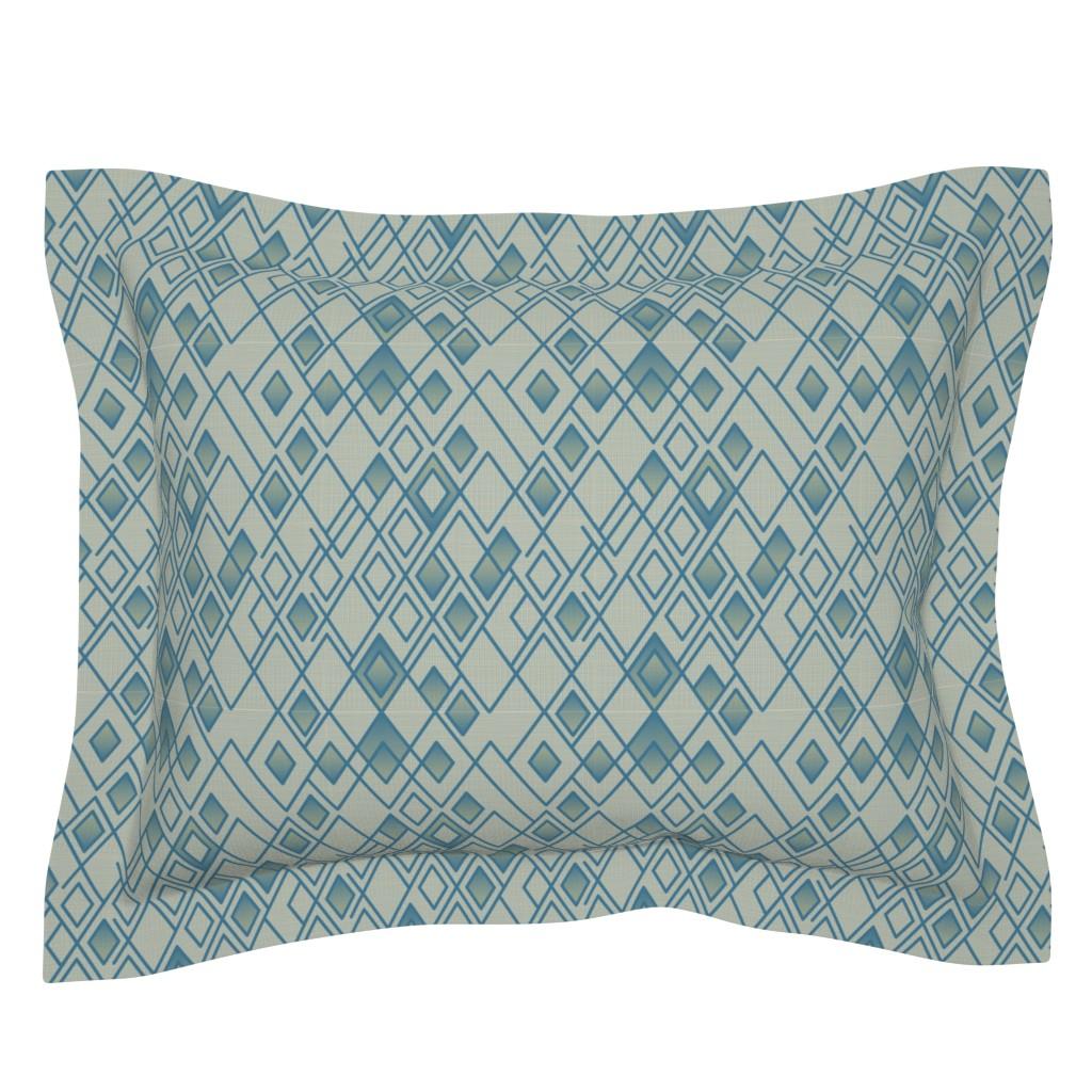 Sebright Pillow Sham featuring Rhapsody Blue by chris_jorge