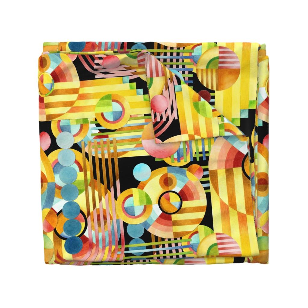 Wyandotte Duvet Cover featuring Art Deco Maximalist by patriciasheadesigns