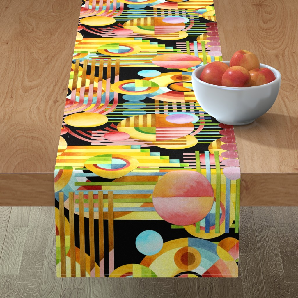 Minorca Table Runner featuring Art Deco Maximalist by patriciasheadesigns