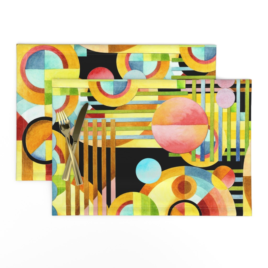 Lamona Cloth Placemats featuring Art Deco Maximalist by patriciasheadesigns