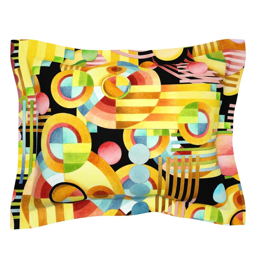 Sebright Pillow Sham featuring Art Deco Maximalist by patriciasheadesigns