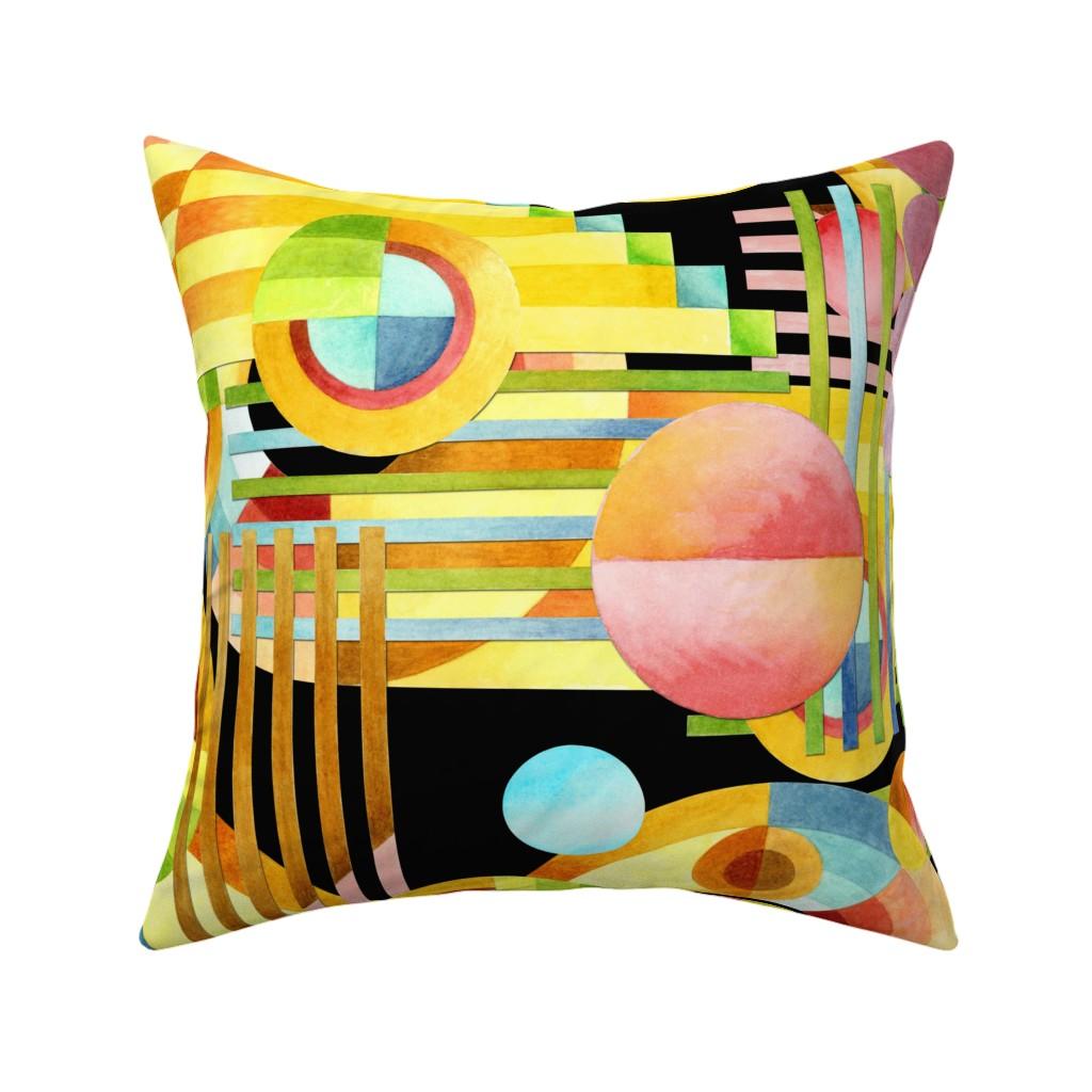 Catalan Throw Pillow featuring Art Deco Maximalist by patriciasheadesigns