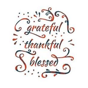 "grateful • thankful • blessed (6x9"" plaid)"
