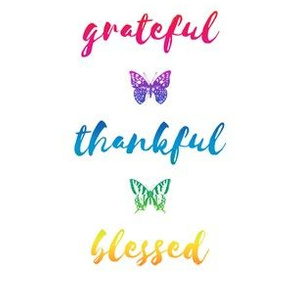 "grateful • thankful • blessed (6x9"" rainbow)"