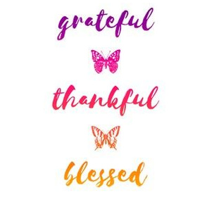 "grateful • thankful • blessed (6x9"" purple-red-orange)"