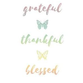 "grateful • thankful • blessed (6x9"" pastel rainbow)"