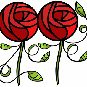 deco rose Large Scale sewindigo