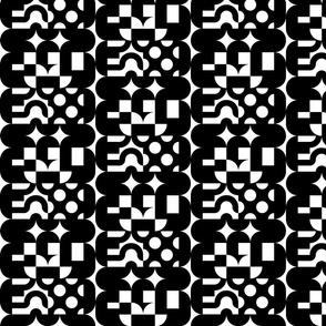 Black and White Deco Lonzenge