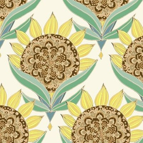 Art Deco Sunflowers