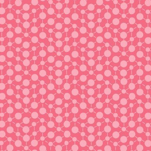 18-8AA Coral Pink Solid || Geometric Texture Dots Spots Peach Orange White Baby Girl _ Miss Chiff Designs