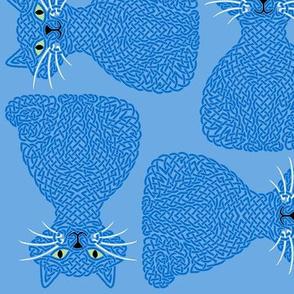 Knotty Cat - blue, big