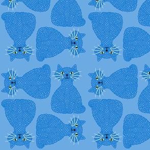 Knotty Cat - blue, small