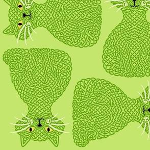 Knotty Cat - green, big