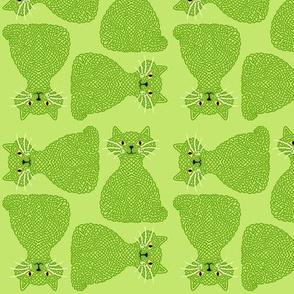 Knotty Cat - green, small