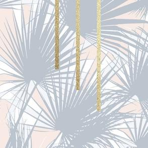 Tropical Art Deco 1.2a Grey, Nude, Gold