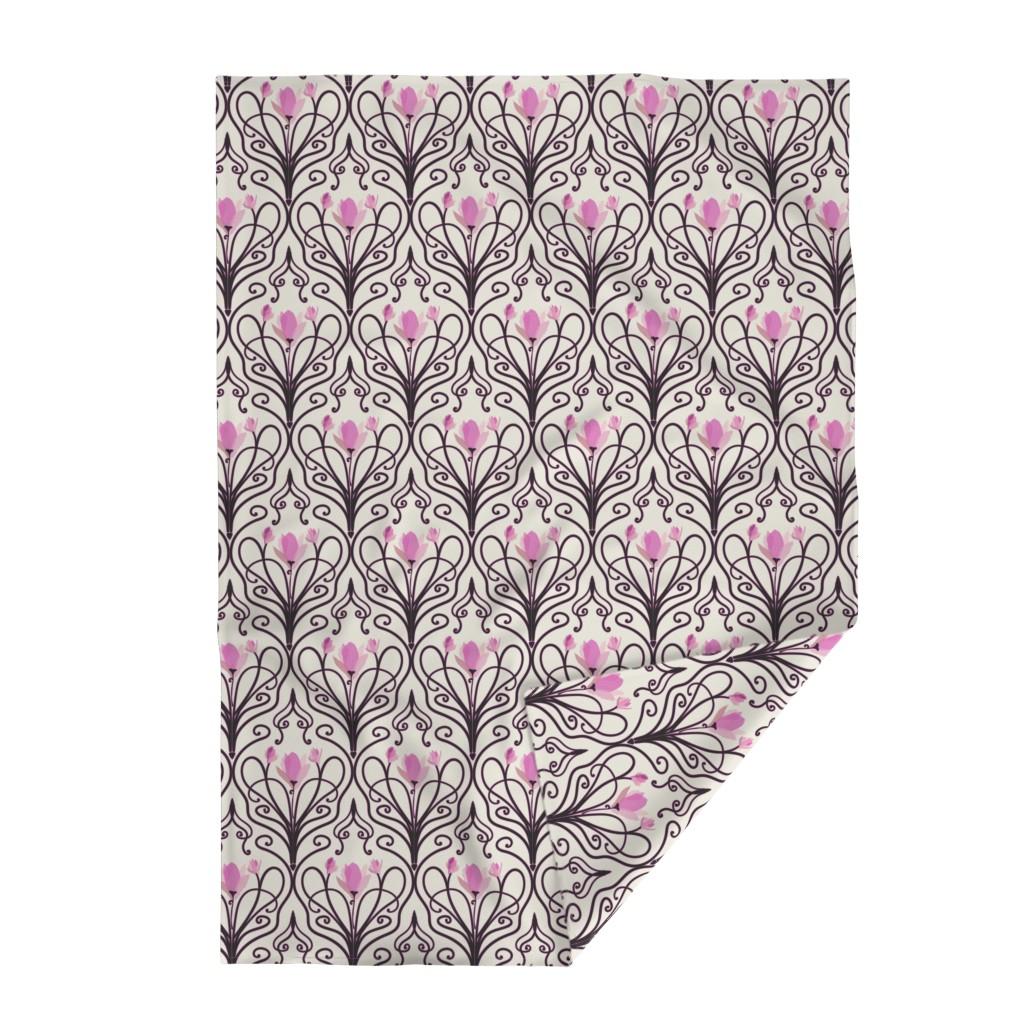 Lakenvelder Throw Blanket featuring Cherry Blossom Deco by stasiajahadi