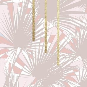 Tropical Art Deco 1.3 Tan Champagne Gold
