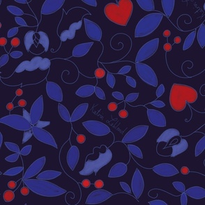Hearts and Vines_indigo