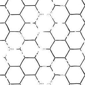 Hex Honeycomb - White