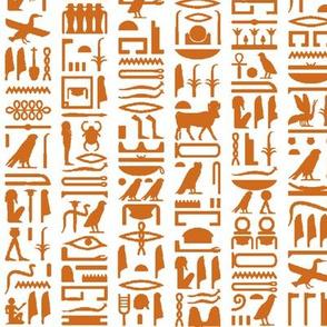 Orange Egyptian Hieroglyphics // Small