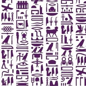 Purple Egyptian Hieroglyphics // Small