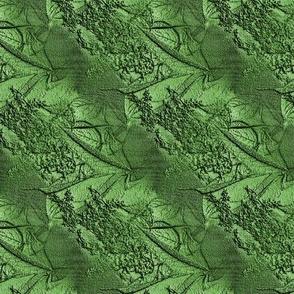 Green emboss flower patteren 2