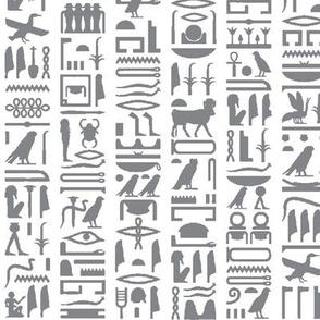 Grey Egyptian Hieroglyphics // Small