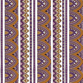 Bohemian Purple and Caramel - columns