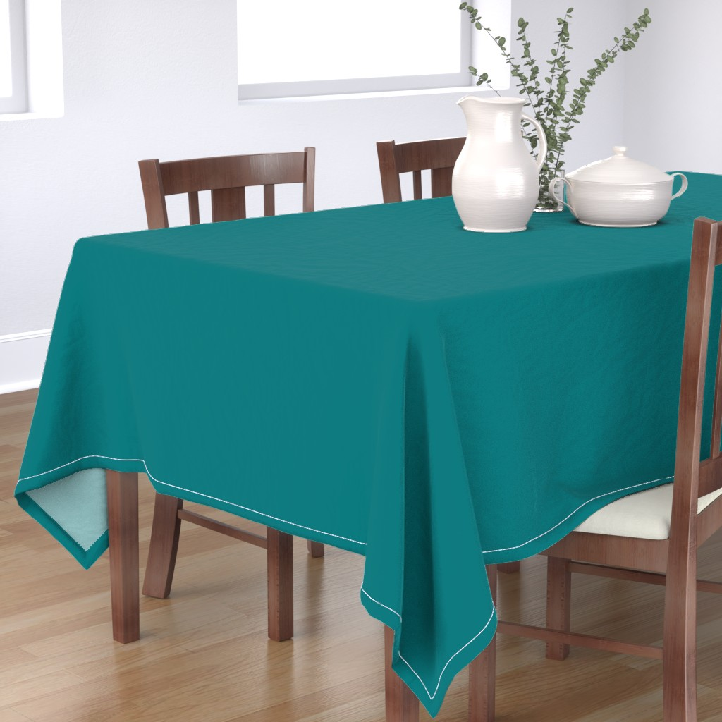 Bantam Rectangular Tablecloth featuring metal ornament with swan by colorofmagic